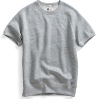 Short Sleeve Sweatshirt in Grey Heather