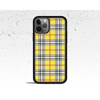 Yellow Plaid Phone Case for Apple iPhone