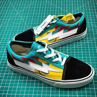 Revenge x Storm Pop up Store Black White Yellow Sneakers