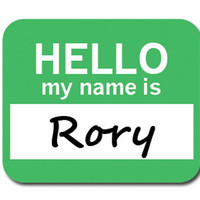 Rory Hello My Name Is Mouse Pad