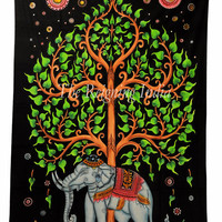 Tree Of Life Wall Tapestries twin bedding dorm decor Elephant Tapestry Hippie Gypsy Bohemian Tie Dye Wall Hanging cotton bedsheet 2665