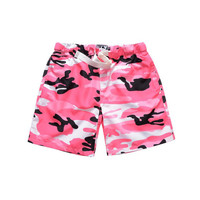 Pink Multi Camo Shorts