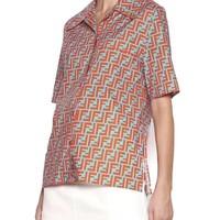 FENDI Women Fashion Short Sleeve shirt