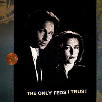 XFiles Mulder and Scully screenprinted patch The by retirementfund