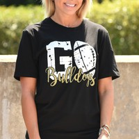 GO Bulldogs Tee - Black
