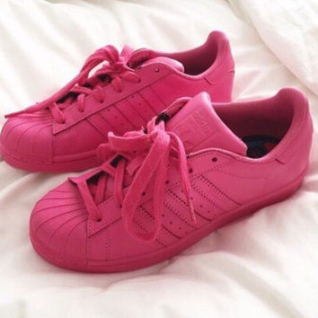"""""""Adidas"""" Classic Shell Head Solid Color Casual Sports Shoes"""