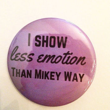Mikey Way 2.5 Inch Pinback Button
