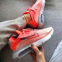 Bunchsun Nike Air Max 2090 Popular Women Breathable Sport Running Shoes Sneakers Pink