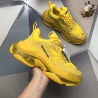 Balenciaga Triple S Men Fashion Boots fashionable Casual leather Breathable Sneakers Running Shoes