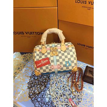 LV Louis Vuitton WOMEN'S DAMIER CANVAS SPEEDY 25 HANDBAG SHOULDER BAG