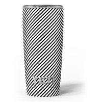 The Slate Black Slanted Lines - Skin Decal Vinyl Wrap Kit compatible with the Yeti Rambler Cooler Tumbler Cups