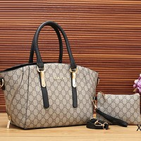 Best Gifts Gucci Women Fashion Leather Satchel Purse Shoulder Bag Handbag Crossbody Two Piece Set