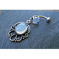 Opalite Belly Button Ring