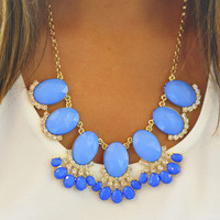Fan Of Fringe Necklace: Periwinkle | Hope's