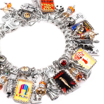 Broadway Theater Charm Bracelet, Movie Posters