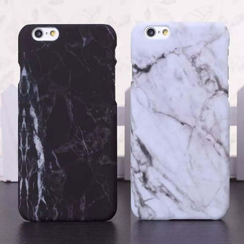 Fashion Marble Stone image Painted Cover For iphone X 7 7plus  8 8 plus 5 5S 6 6S Plus New Screen Protector + Nice Gift Box