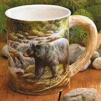 Bear Sculpted Coffee Mug by Rosemary Millette | Wild Wings