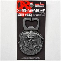 Sons of Anarchy Reaper Round Metal Magnetic Bottle Opener Gift LICENSED OFFICIAL