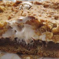 Smores Cookie Bars in 8X8 pan