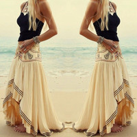 Sexy Women Beach Dresses Flower Dress Summer Boho Long Maxi Evening Party Skirts = 1946488196
