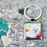 Personalized photo keychain, Round Key Chain---Anniversary gift, photo gift, wedding gift, custom gift Personalized keychain photo keyring