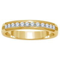 14K Yellow Gold .25 cttw Channel-Set Diamond Ladies' Wedding Band