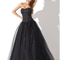 Ball-Gown Sweetheart Floor-Length Tulle Quinceanera Dress With Beading Sequins - MADE TO ORDER - Brides & Bridesmaids - Wedding, Bridal, Prom, Formal Gown