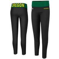 Oregon Ducks Ladies Pivot II Yoga Leggings - Black/Green