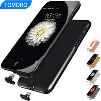 Extra Pack Battery Charger Case for iPhone 6S Plus iPhone6 S 6plus iPhone 6 Plus Power Cover Charge Plug Adapt Smart Phone 8pin
