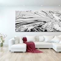 Original Black and White Art Abstract Oil Painting on Canvas Extra Large Wall Art Abstract Large Art Modern Contemporary home decor