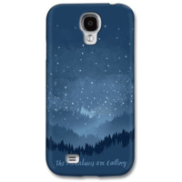 The Mountains Are Calling Starry Night Phone Case