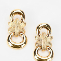 Urban Outfitters - Vintage '80s Gold-Tone Givenchy Dangle Earring