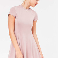 Silence + Noise Violetta Cupro Mock-Neck Mini Dress - Urban Outfitters