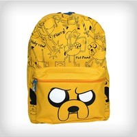 Adventure Time Jake Allover Print with Hood Backpack