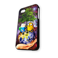 Adventure Time BMO Jake and Finn Nebula save earth iPhone 4/4S Case