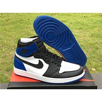 Air Jordan 1 Retro Blue/Black Basketball Shoes 36-47