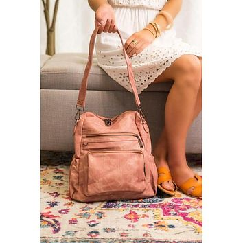 The Poppy Convertible Backpack Purse (Black, Blush, Or Grey)