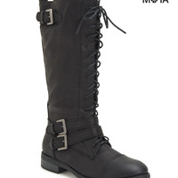 Aeropostale Womens Tall Lace-Up Boots
