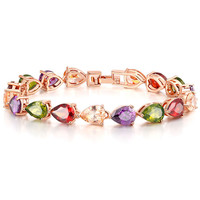 Shiny New Arrival Gift Awesome Great Deal Hot Sale Crystal Multi-color Water Droplets Korean Stylish Gifts Accessory Bracelet [11597565647]