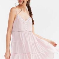 Kimchi Blue Pansy Tiered Mini Dress - Urban Outfitters