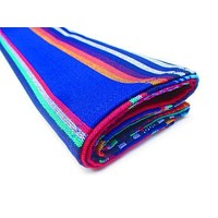 BLUE Serape Mexican Table Runner 14x36""
