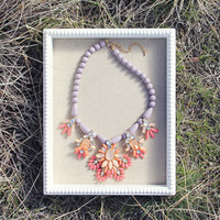 Hive & Honey Necklace in Lilac