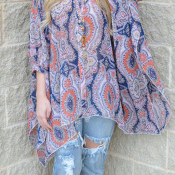 Mixed Up In Paisley Top