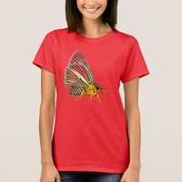 Psychedelic Colorful Fantasy Butterfly Drawing T-Shirt