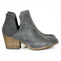 Soft Charcoal Snake Booties