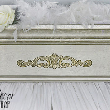 Bed Crown, Teester, Crib Crown,  Bed Canopy, Designer Colors, Shabby Chic