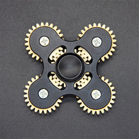 Four Corners EDC Five Gear Colorful Fidget Pattern Hand Spinner Rotating Toys Alloy Fingertips Gyro