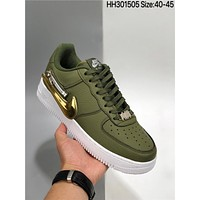 Nike Air Force  1 Low 07 PRM Zip Swoosh cheap Men's and women's nike shoes