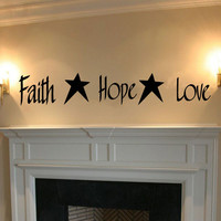 Faith Hope Love Vinyl Wall Words Decal Sticker Graphic