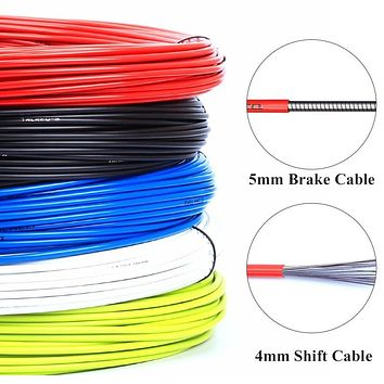 3m Wire For Bicycle Bike Shifters Derailleur Brake Cables Shift Cable Tube 4mm/5mm MTB Road Bike Shifter Brake Cable Line Pipe